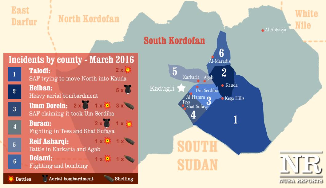 Conflict in South Kordofan, March 2016 (Nuba Reports)
