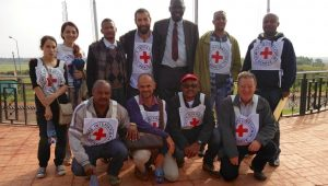 ICRC Staff overseeing the transfer in Asosa, Ethiopia