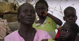 Faiza Majar' and her family displaced from Al Azrak (Nuba Reports)
