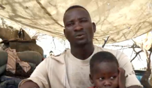 Displaced farmer Haider Anur (Nuba Reports)