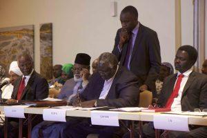 Delegates sign the roadmap (Nuba Reports)