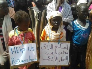 Refugee Children at a civil society function in Maban, South Sudan 2015 (Nuba Reports)