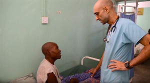 Dr. Tom Catena with a patient (Nuba Reports)