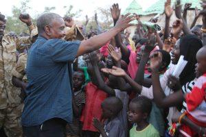 SPLM-N Chairman Yasir Arman in Kauda (Nuba Reports)